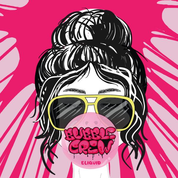 Bubble Crew e-liquid Logo illustration