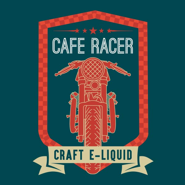 Cafe Racer e-liquid Logo illustration