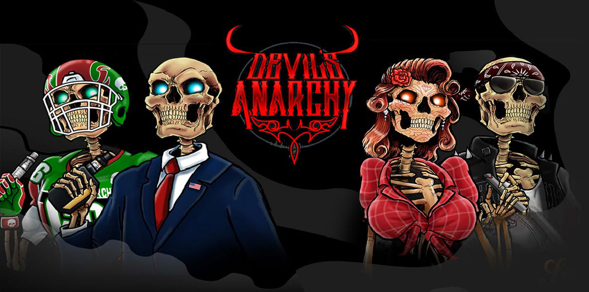 Devil's Anarchy e-liquid Logo illustration