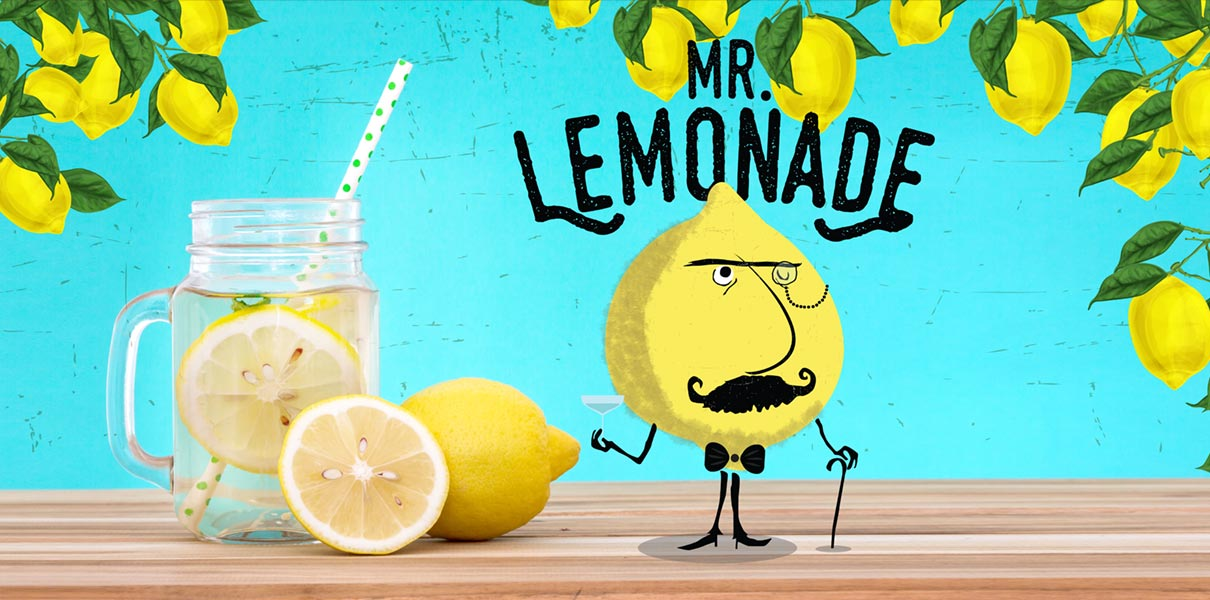 Mr Limonade e-liquid Logo illustration