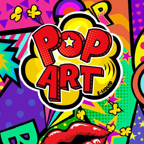 Pop art e-liquid Logo illustration