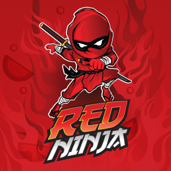 Red Ninja e-liquid Logo illustration