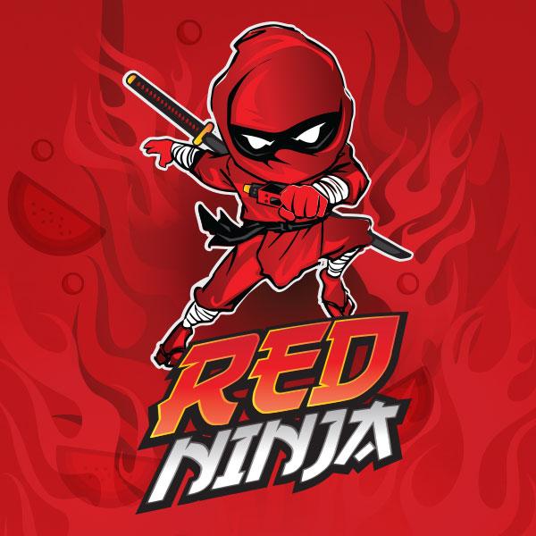 Red Ninja e-liquid Logo illustration