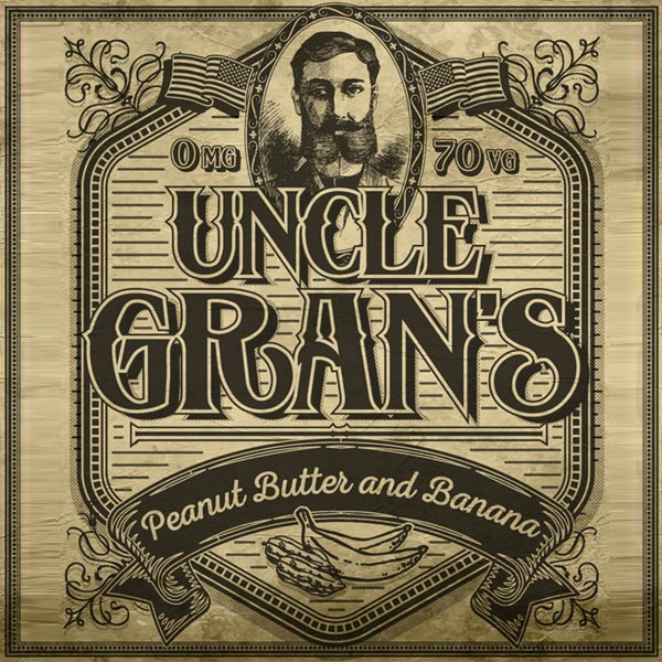 Uncle Gran's e-liquid Logo illustration