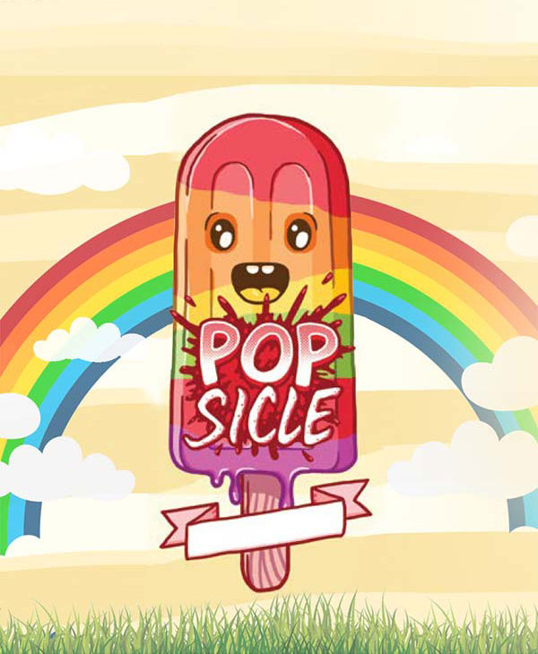 Remix : Popsicle e-liquid illustration
