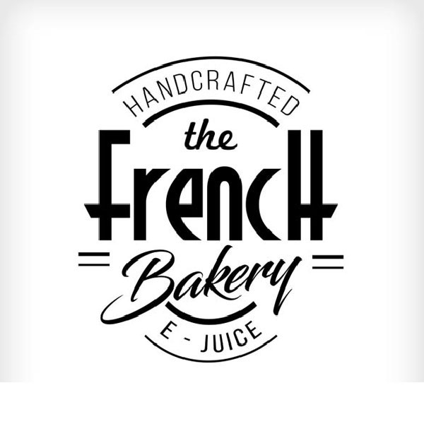 The french bakery e-liquid Logo illustration