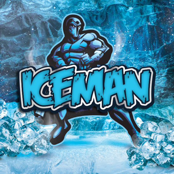 Iceman e-liquid Logo illustration